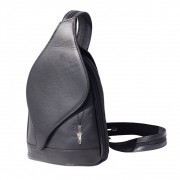 Florence Rucksack, Schultertasche echtes Leder schwarz Damenhandtasche OTF602F