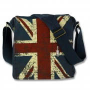 Umhängetasche Canvas blau Messenger Crossbody Union Jack Robin Ruth OTG202M