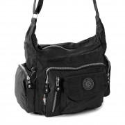 Schultertasche Nylon schwarz Sportliche Damen Umhängetasche Bag Street OTJ204S