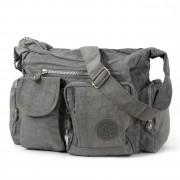 Bag Street Schultertasche Nylon grau Modische Umhängetasche Crossover OTJ205K