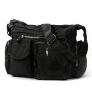 Bag Street Schultertasche Nylon schwarz Modische Umhängetasche Crossover OTJ205S