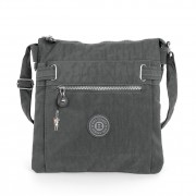 Damen Umhängetasche grau Nylon Schultertasche Bag Street Handtasche OTJ207K