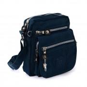 Bag Street Umhängetasche Nylon blau Kleine Schultertasche Crossover OTJ215B