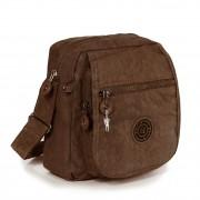 Umhängetasche Nylon braun Schultertasche Crossbody Bag Bag Street OTJ218N