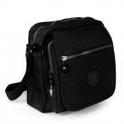 Umhängetasche Nylon schwarz Schultertasche Crossbody Bag Street OTJ218S