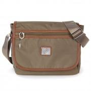 Schultertasche, Umhängetasche Nylon braun, natur Damen Tasche Bag Street OTJ222C