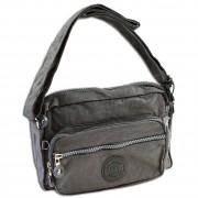 Umhängetasche Nylon grau Handtasche Schultertasche Bag Street OTJ227K