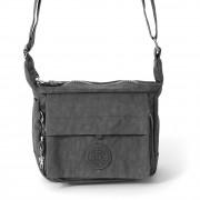Handtasche Abendtasche Nylon grau Damen crossover Tasche Bag Street OTJ232K