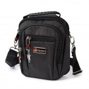 Bag Street Umhängetasche Polyester schwarz Crossover Schultertasche OTJ251S