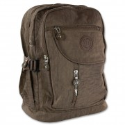 Bag Street Rucksack Handtasche Nylon braun trendiger Damen Cityrucksack OTJ604N