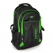 Rucksack Synthetik schwarz, grün Laptopfach Laptoprucksack Bag Street OTJ605G