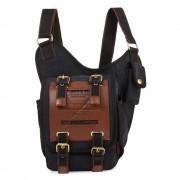 Umhängetasche Canvas schwarz Crossbody Messengerbag Schultertasche OTK200S