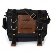 Umhängetasche, Messenger Bag Canvas schwarz Crossover Tasche Manoro OTK212S