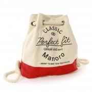 Rucksack, Handtasche Canvas weiß, rot City-Rucksack Tasche Manoro OTK216R