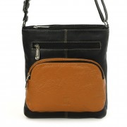 DrachenLeder Umhängetasche Damen Handtasche Leder schwarz Schultertasche OTZ101S