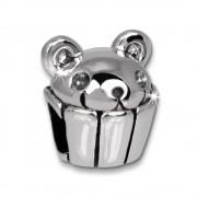 IMPPAC Bead Cupcake mit Mäuschen 925er Silber Armband Beads SBB448