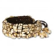 SilberDream Stein Armband Geflecht beige Armreifen SDA016