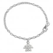 SilberDream 16cm Kinder Armband Engel weiß Silber SDA029W