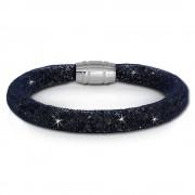 SilberDream Glitzerarmband Minikristalle blaugrau 18cm Armband Damen SDA050B9