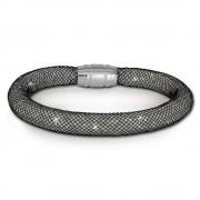 SilberDream Glitzerarmband Minikristalle schwarz/weiß 18cm Armband SDA050K9