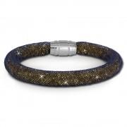 SilberDream Glitzerarmband Minikristalle goldfarben 18cm Armband Damen SDA050N9