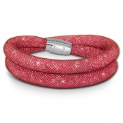SilberDream Glitzerarmband Minikristalle rosa Doppelarmband Damen SDA051A0