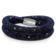 SilberDream Glitzerarmband Minikristalle blaugrau Doppelarmband Damen SDA051B0