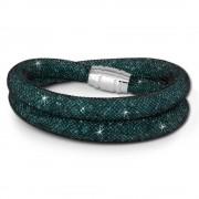SilberDream Glitzerarmband Minikristalle grün Doppelarmband Damen SDA051G9