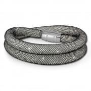 SilberDream Glitzerarmband Minikristalle schwarz/weiß Doppelarmband SDA051K9