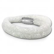 SilberDream Glitzerarmband Minikristalle weiß Doppelarmband Damen SDA051W9