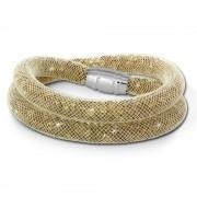SilberDream Glitzerarmband Minikristalle goldfarbenen Doppelarmband SDA051Y0