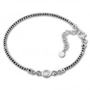 SilberDream Armband Zirkonia 18-21cm geschwärzt diamantiert 925 Silber SDA1018K