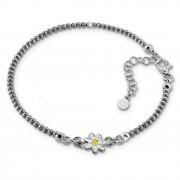 SilberDream Armband Blume 18cm-21cm geschwärzt 925er Silber SDA1198K
