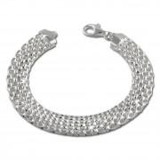 SilberDream Armband Geflecht 925 Sterling Silber Damen 19cm SDA2019J