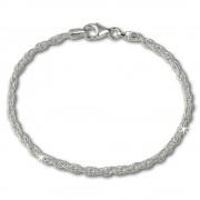 SilberDream Armband Doppelanker 925 Sterling Silber Damen 19cm SDA2099J