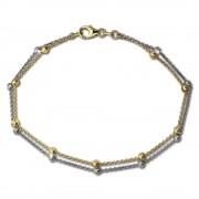 SilberDream Bicolor Armband Kugeln Gold und Silber 925 Silber Damen SDA2129T