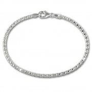 SilberDream Armband Himbeerkette 925er Sterling Silber Damen 18,5cm SDA2178J