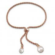 SilberDream Armband rose vergoldet Perle 925er Sterling Silber Damen SDA2295E