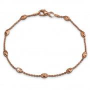 SilberDream Damen Armband Ankerkette 19,5cm Silber rosevergoldet Trend SDA2389E