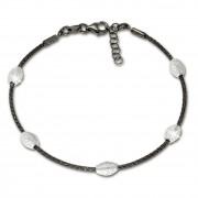 SilberDream Armband Fantasie schwarz 925 Silber Damen SDA2469S