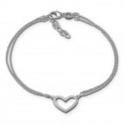SilberDream Armband Herz 17cm - 19cm 925 Sterling Silber Damen SDA2577J