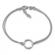 SilberDream Armband rund Zirkonia weiß 17cm - 19cm 925er Silber Damen SDA2587J