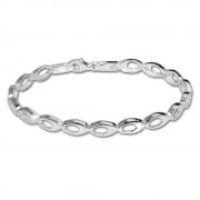 SilberDream Armband oval offen 925 Silber 19cm Silberarmband SDA401