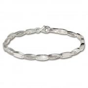 SilberDream Armband oval matt 925 Silber 18,5cm Silberarmband SDA403