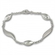 SilberDream Armband Wave 925 Sterling Silber 19,5cm SDA410