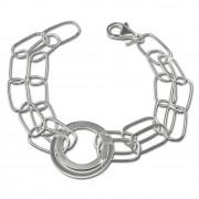 SilberDream Armband Ringe 925 Sterling Silber Damen 18,5cm SDA419