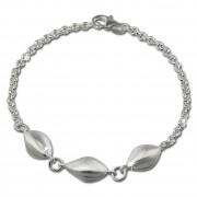 SilberDream Armband Ellipsen 925 Sterling Silber 19cm Damen SDA420