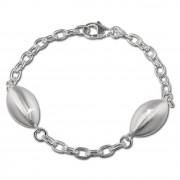 SilberDream Armband Ellipse groß 925 Sterling Silber 19cm Damen SDA421