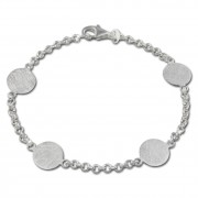 SilberDream Armband Plättchen 925 Sterling Silber 19cm SDA422