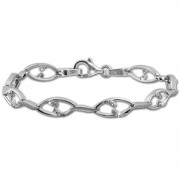 SilberDream Armband Ranke Zirkonia weiß 925er Sterling Silber 19cm Damen SDA472W